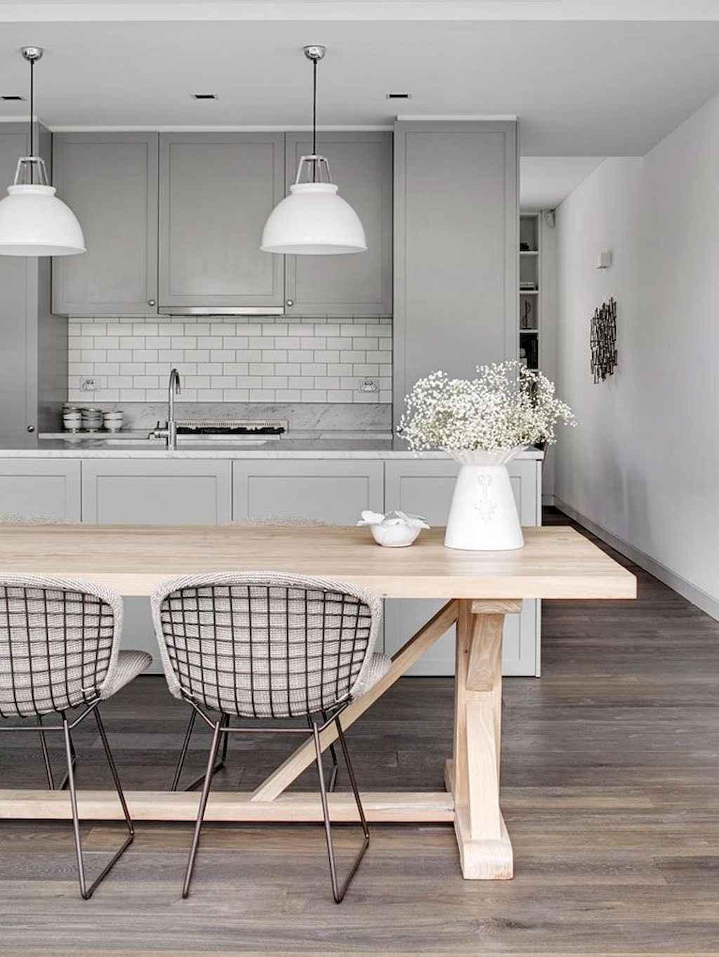 Gorgeous gray kitchen cabinet makeover ideas (11)