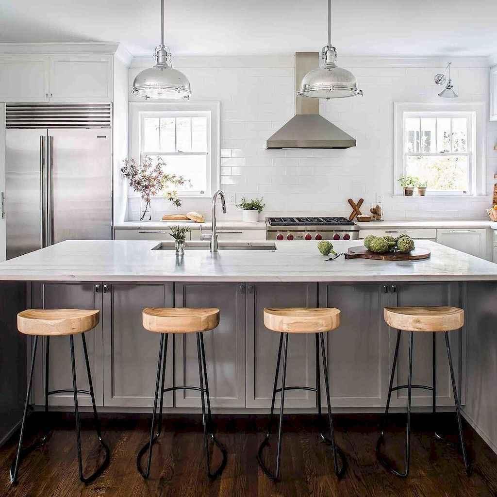 Gorgeous gray kitchen cabinet makeover ideas (26)