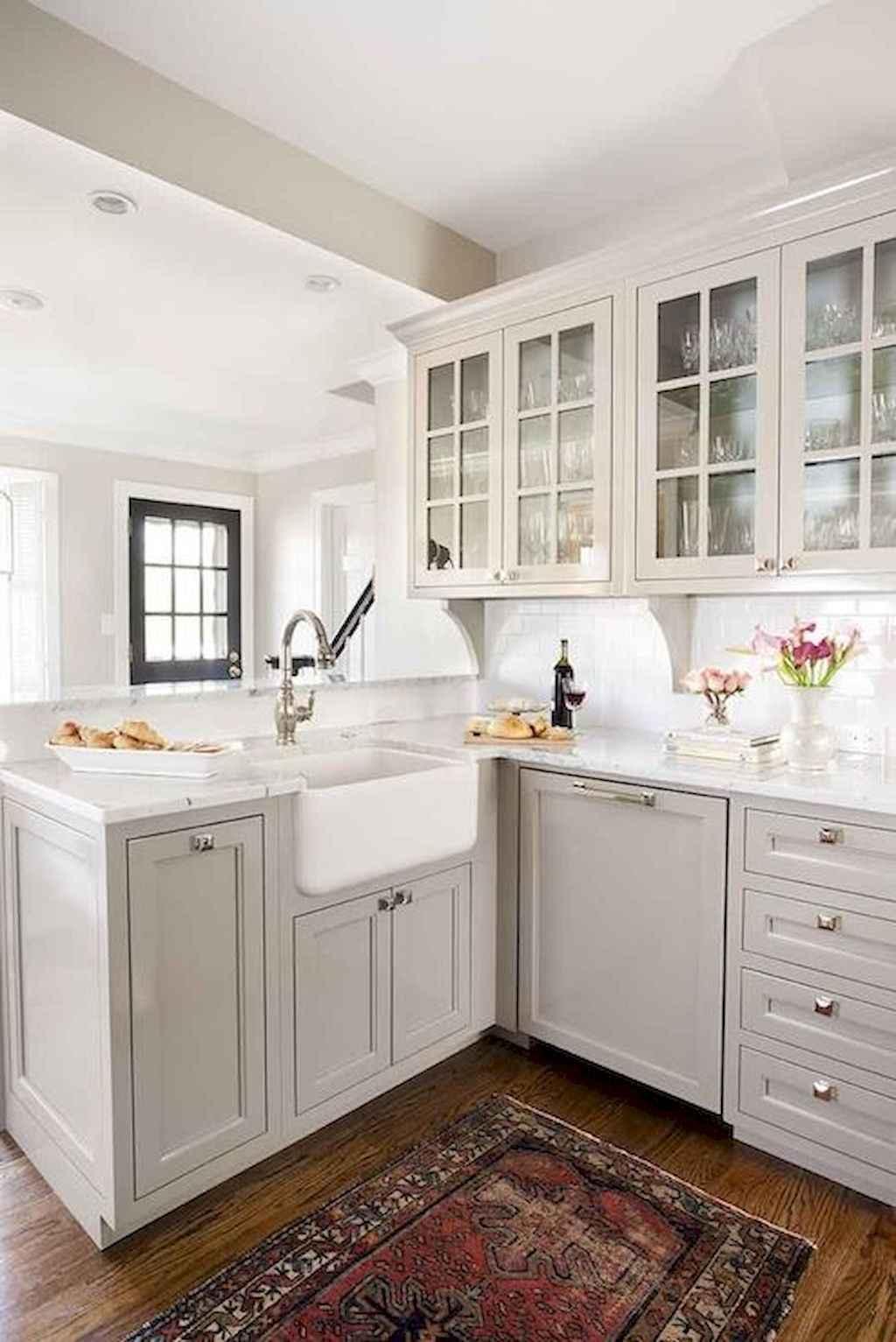 Gorgeous gray kitchen cabinet makeover ideas (29)