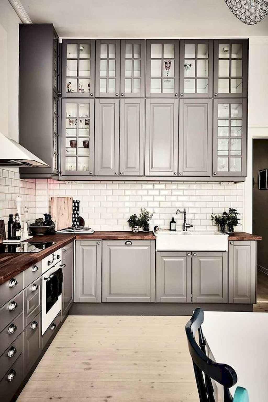 Gorgeous gray kitchen cabinet makeover ideas (3)