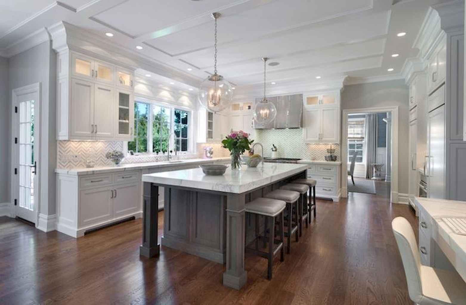 Gorgeous gray kitchen cabinet makeover ideas (34)