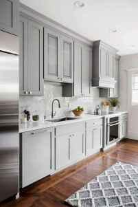 Gorgeous gray kitchen cabinet makeover ideas (35)
