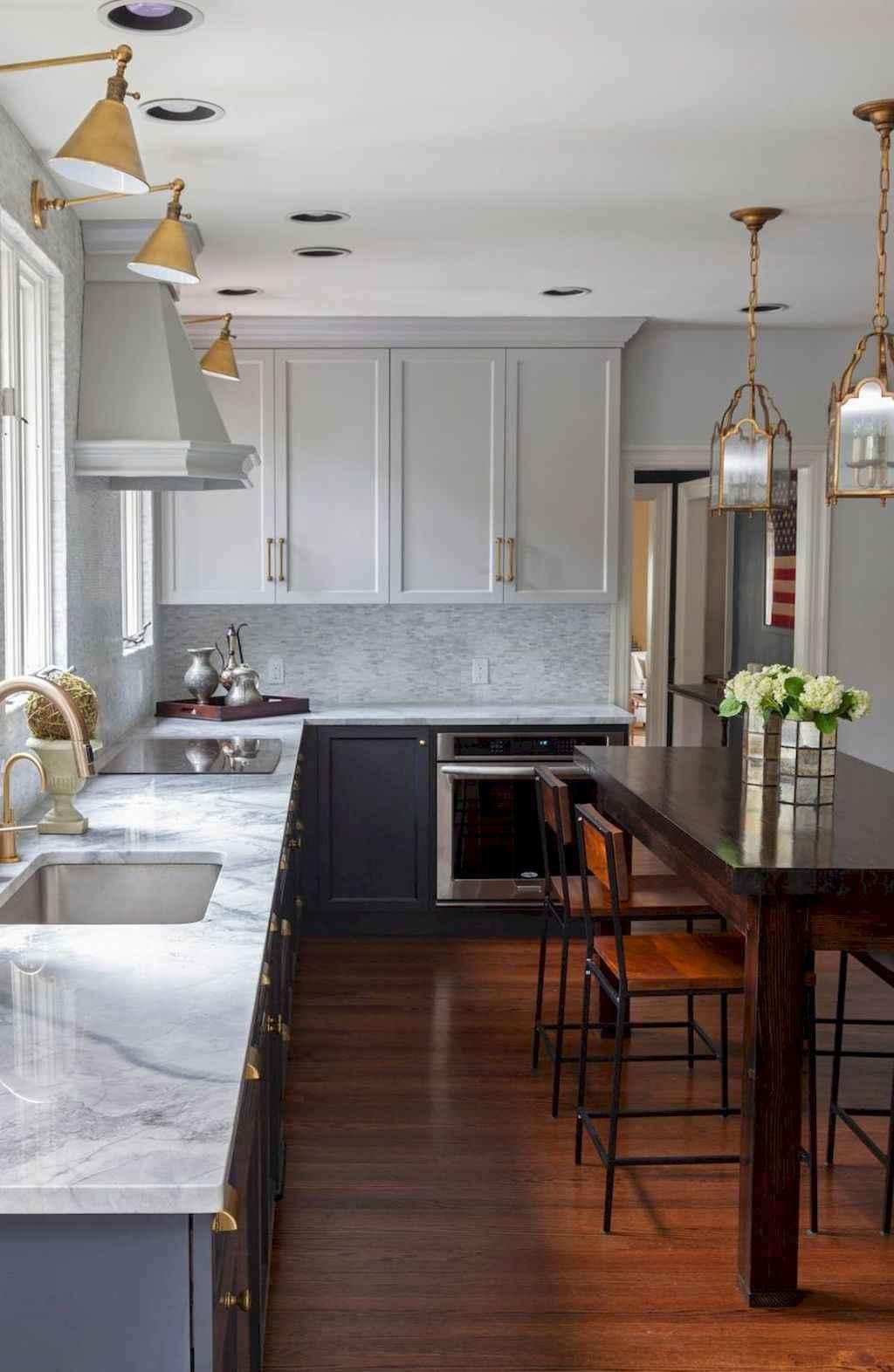 Gorgeous gray kitchen cabinet makeover ideas (4)