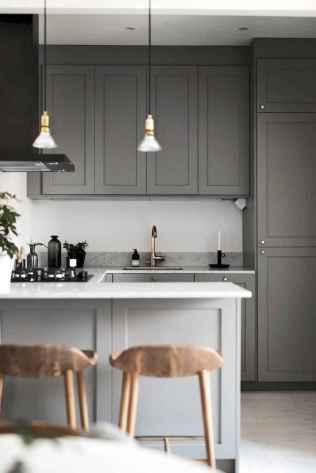 Gorgeous gray kitchen cabinet makeover ideas (45)