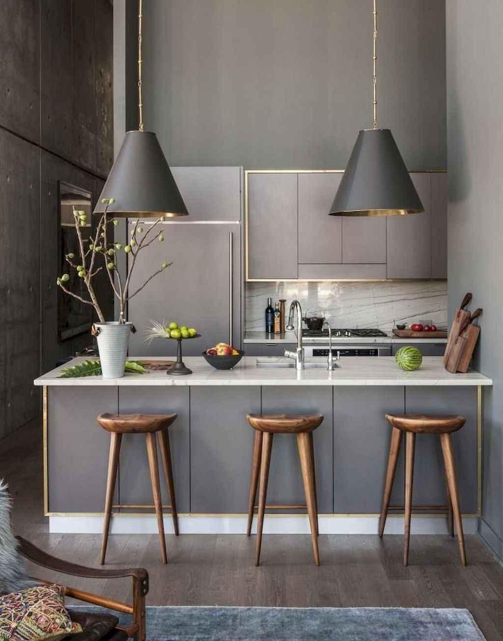 Gorgeous gray kitchen cabinet makeover ideas (54)
