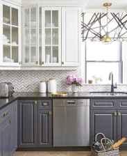 Gorgeous gray kitchen cabinet makeover ideas (66)