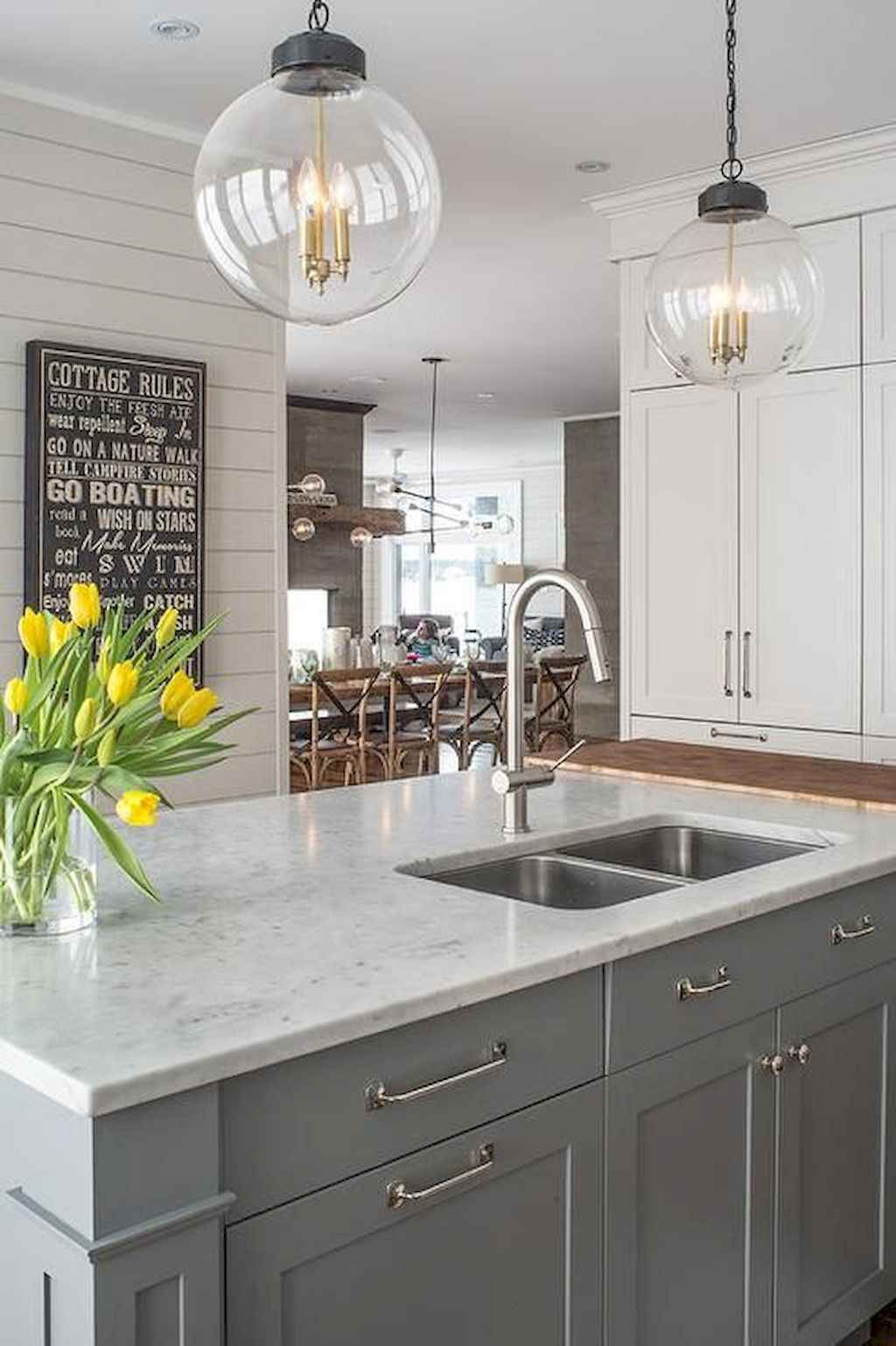 Gorgeous gray kitchen cabinet makeover ideas (67)