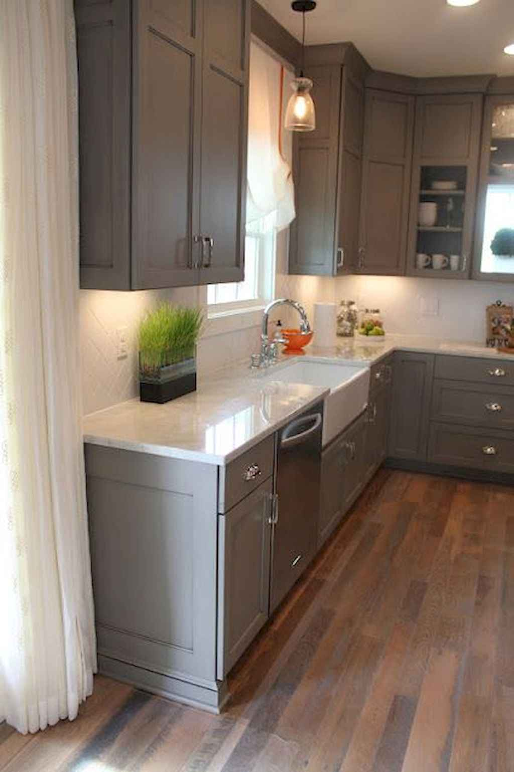 Gorgeous gray kitchen cabinet makeover ideas (68)