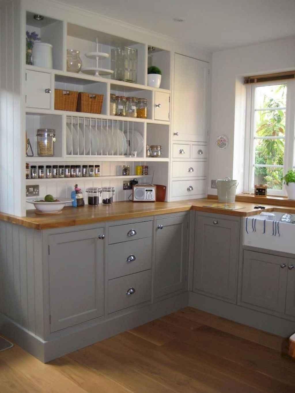 Gorgeous gray kitchen cabinet makeover ideas (69)