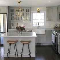 Gorgeous gray kitchen cabinet makeover ideas (72)
