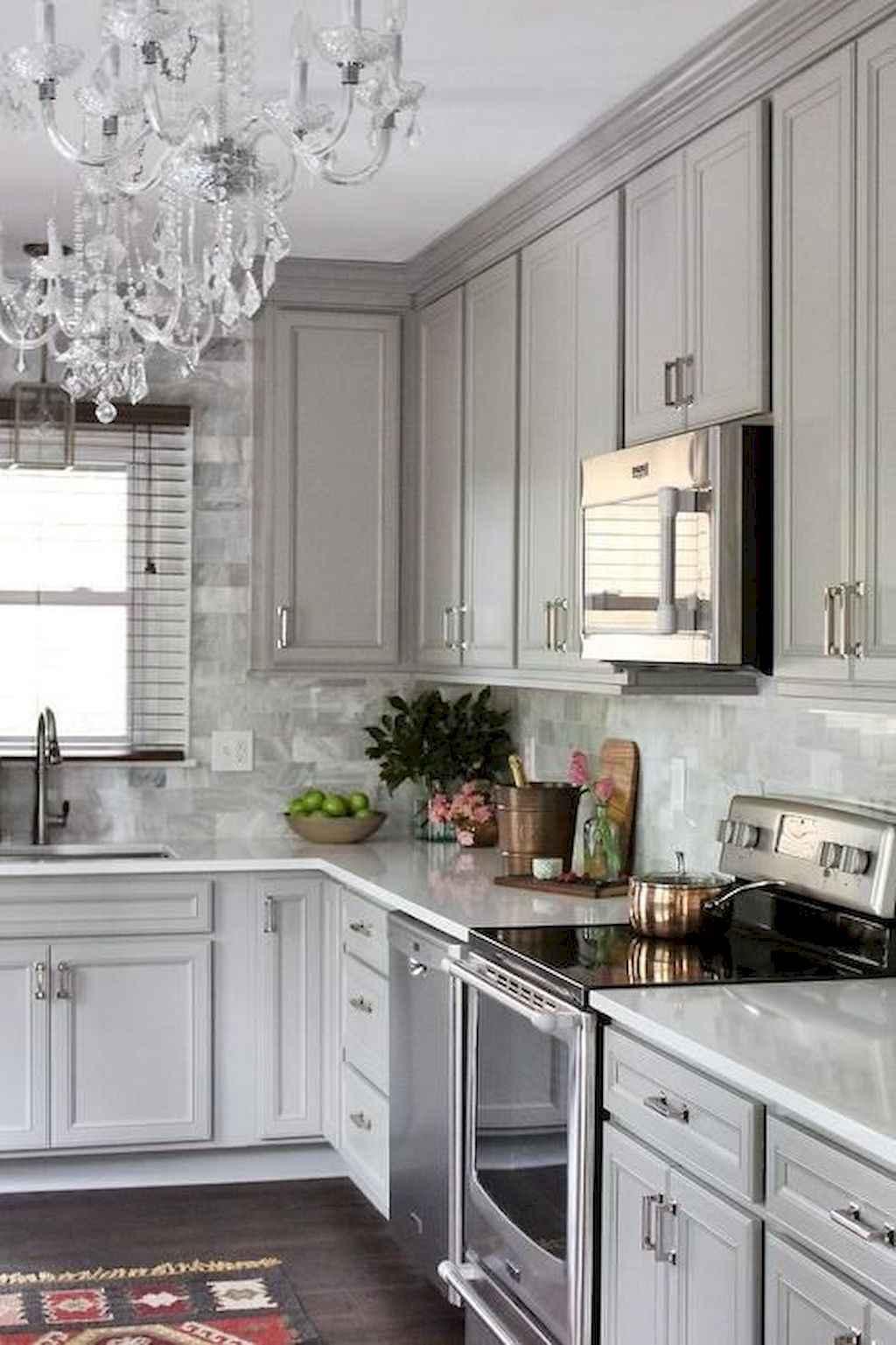 Gorgeous gray kitchen cabinet makeover ideas (73)