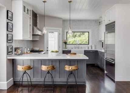 Gorgeous gray kitchen cabinet makeover ideas (8)