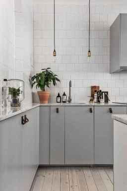 Gorgeous gray kitchen cabinet makeover ideas (83)