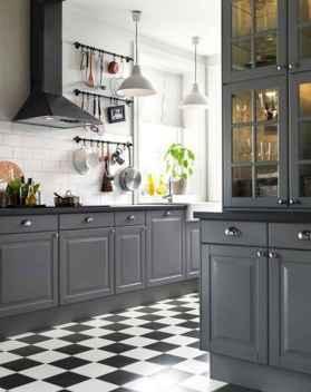 Gorgeous gray kitchen cabinet makeover ideas (85)