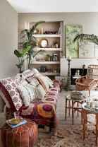 Modern bohemian living room decor ideas (10)