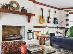 Modern bohemian living room decor ideas (52)