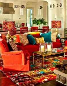 Modern bohemian living room decor ideas (55)