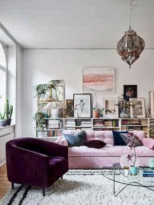 Modern bohemian living room decor ideas (61)