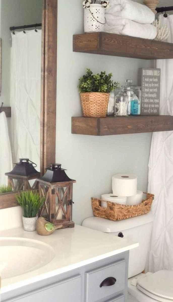 Rustic farmhouse master bathroom remodel ideas (30)