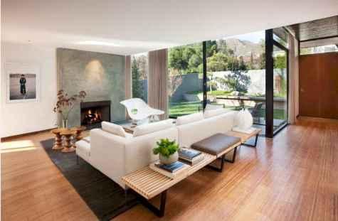 Rustic modern farmhouse living room decor ideas (16)