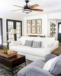 Rustic modern farmhouse living room decor ideas (47)