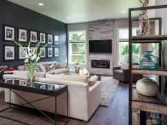 Rustic modern farmhouse living room decor ideas (59)