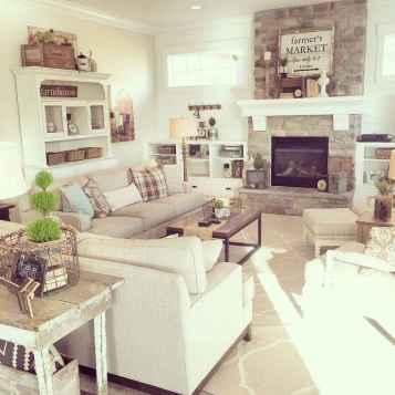 Rustic modern farmhouse living room decor ideas (70)