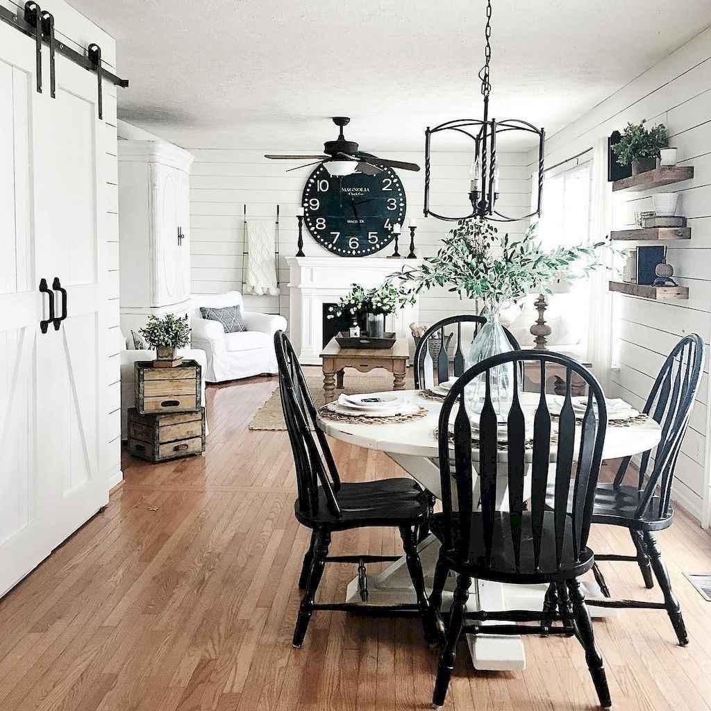 52 best farmhouse dining room makeover decor ideas