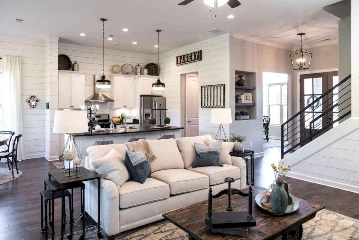54 cozy modern farmhouse living room decor ideas - HomeSpecially