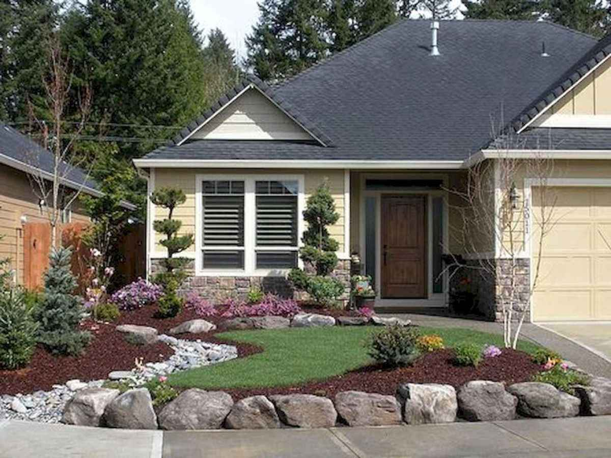 55 low maintenance small front yard landscaping ideas