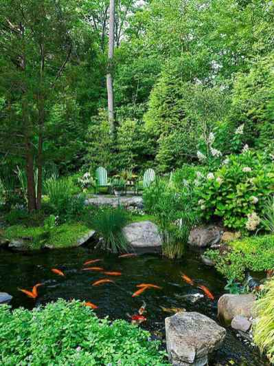 76 awesome backyard ponds and water garden landscaping ideas