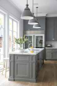 37 awesome gray kitchen cabinet design ideas