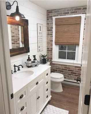 44 cool farmhouse bathroom remodel decor ideas