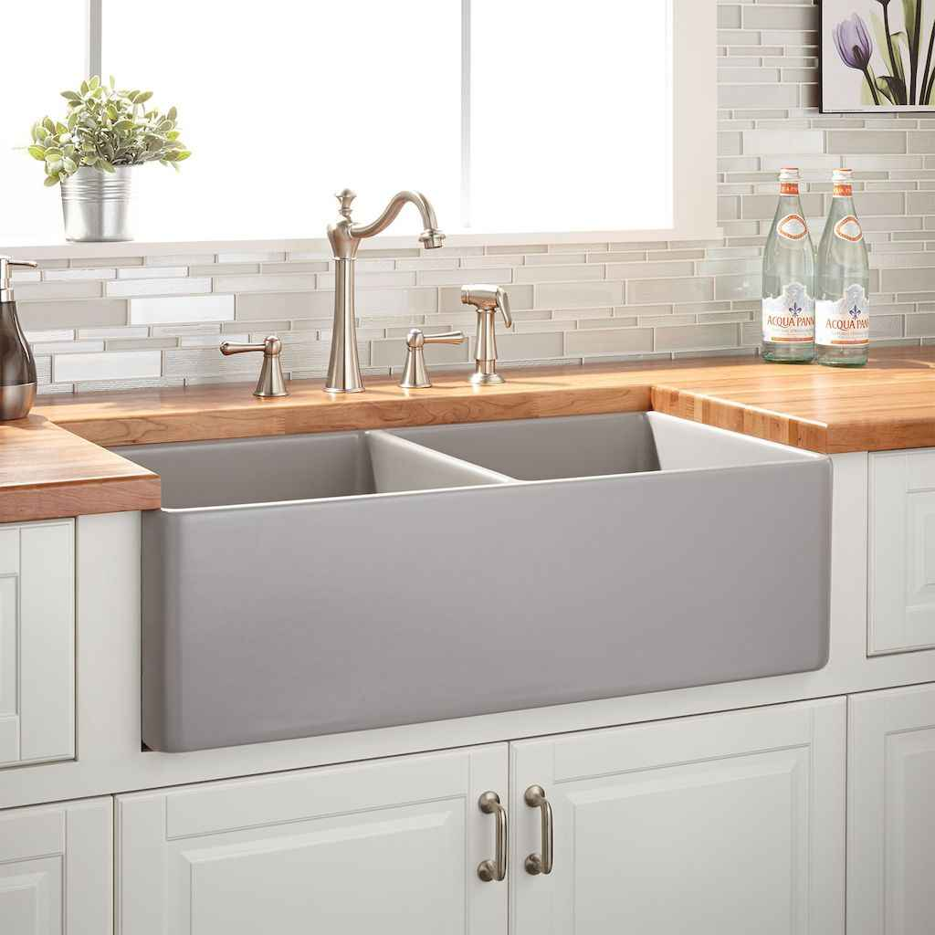 25 elegant gray kitchen cabinet makeover for farmhouse decor ideas