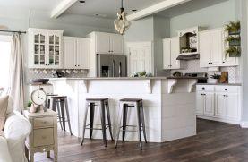 33 elegant gray kitchen cabinet makeover for farmhouse decor ideas