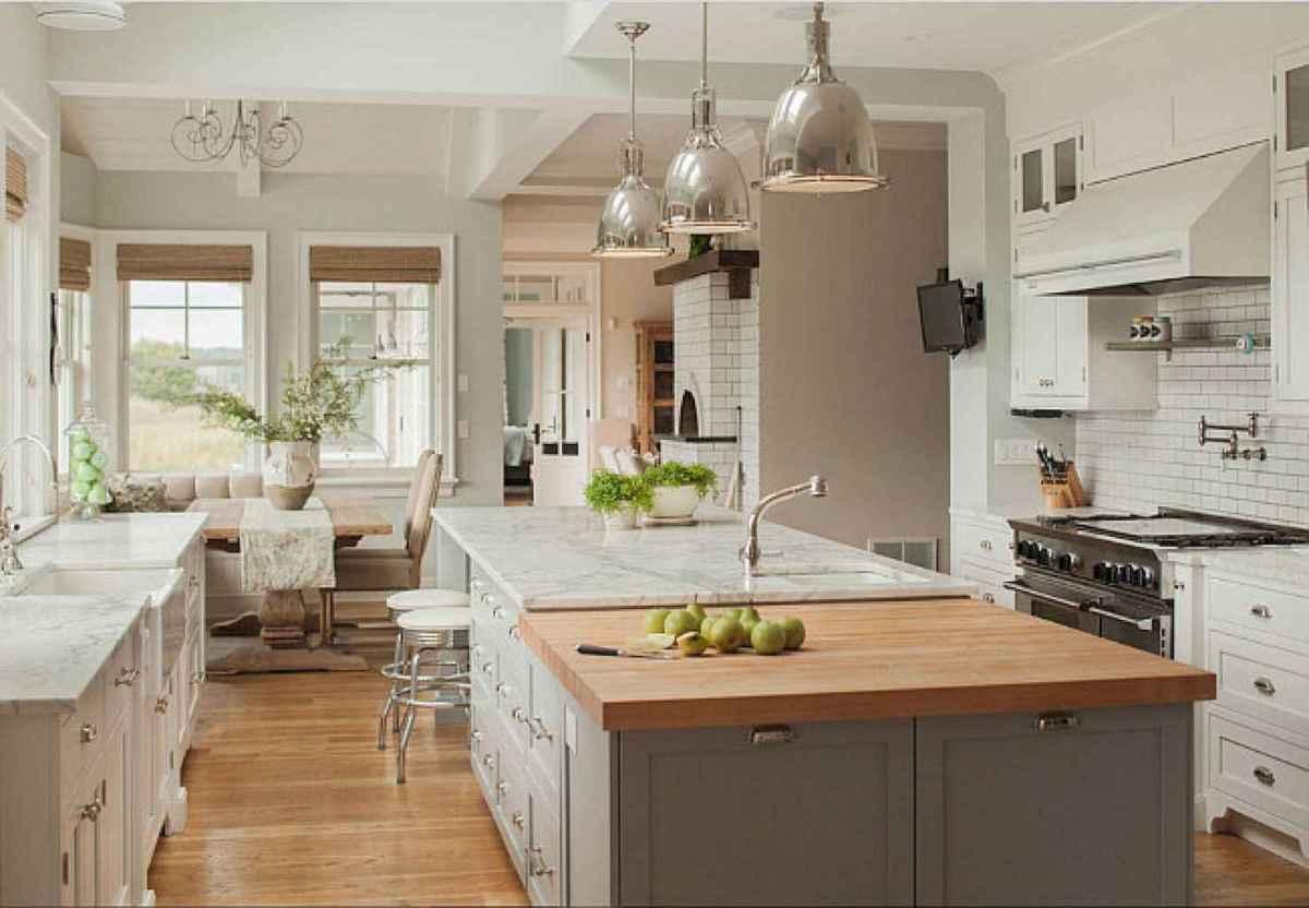 41 elegant gray kitchen cabinet makeover for farmhouse decor ideas