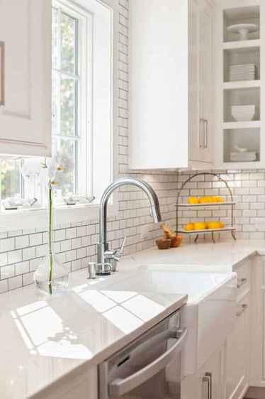53 white kitchen cabinet decor for farmhouse style ideas