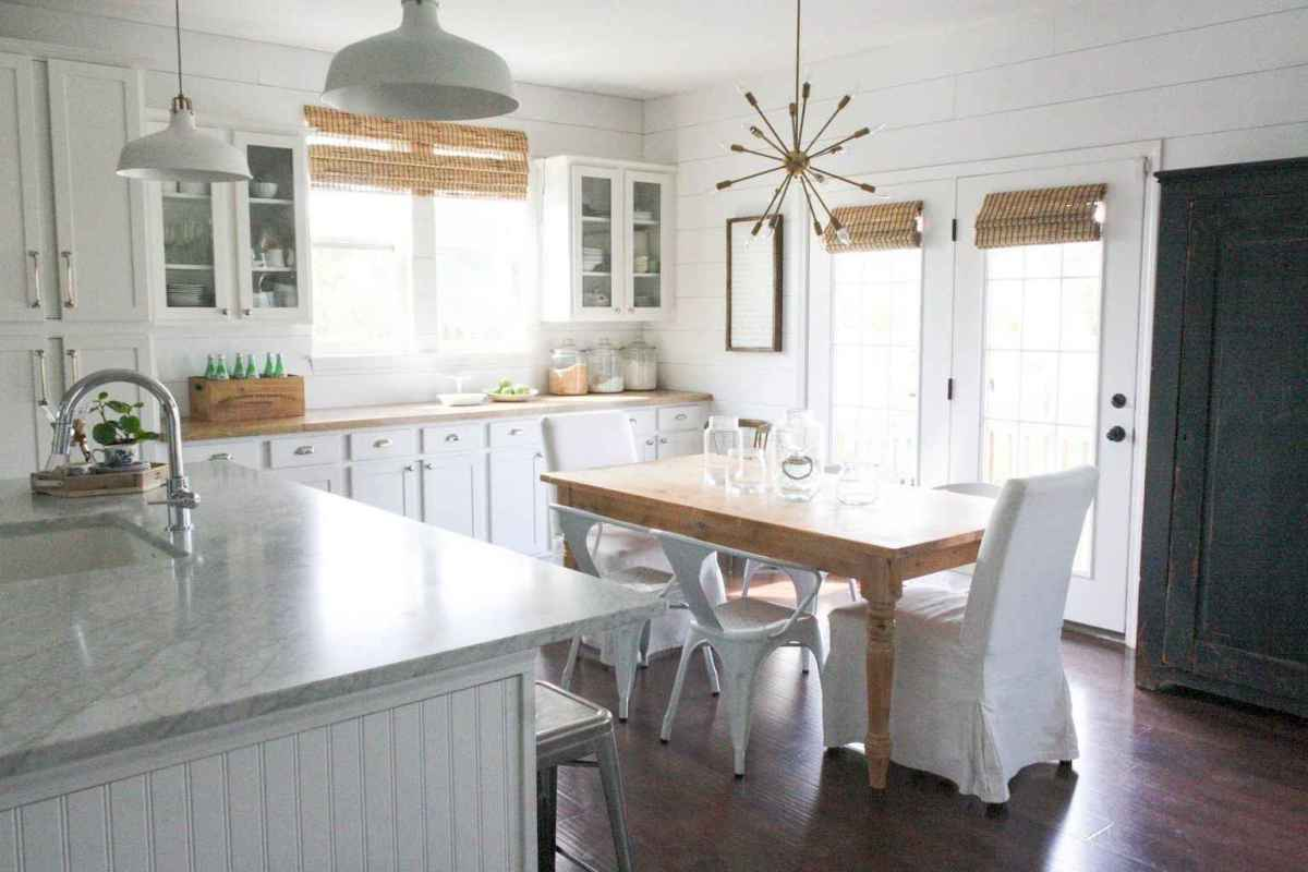 68 elegant gray kitchen cabinet makeover for farmhouse decor ideas
