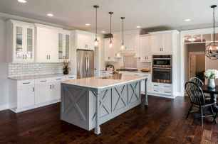 71 elegant gray kitchen cabinet makeover for farmhouse decor ideas
