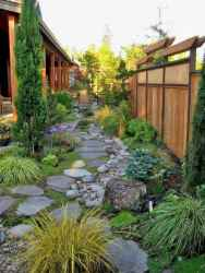 48 incredible side yard garden landscaping ideas with rocks