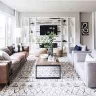 04 cozy farmhouse living room rug decor ideas