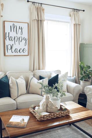 21 best modern farmhouse living room curtains decor ideas