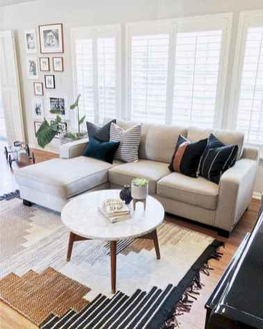 47 cozy farmhouse living room rug decor ideas