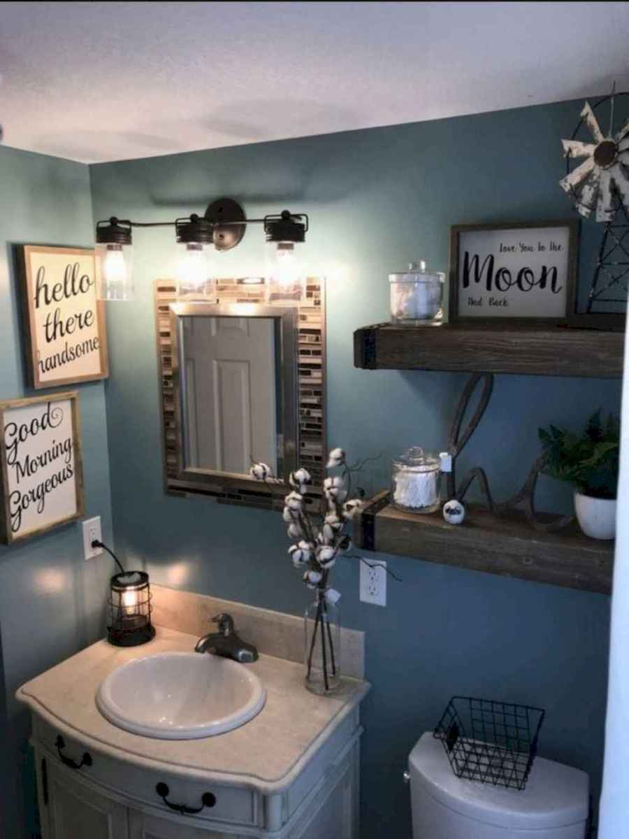 49 beautiful farmhouse bathroom remodel ideas