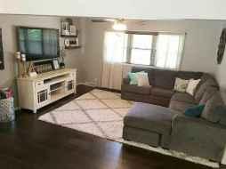 49 cozy farmhouse living room rug decor ideas