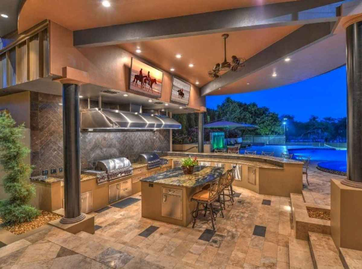 59 fantastic outdoor kitchen design for your summer ideas