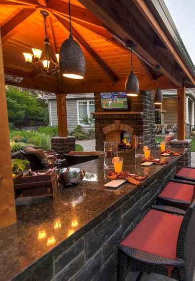 62 fantastic outdoor kitchen design for your summer ideas