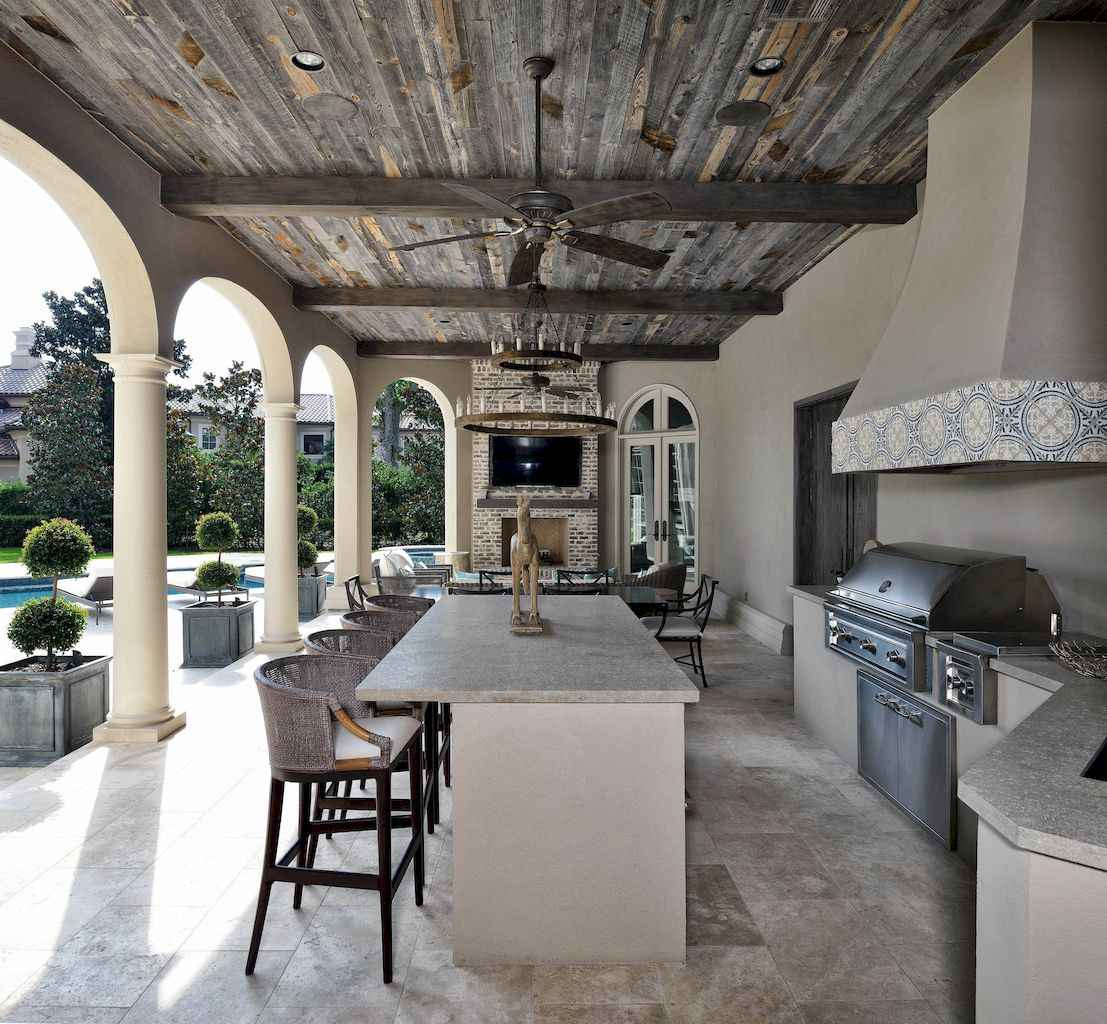 75 fantastic outdoor kitchen design for your summer ideas