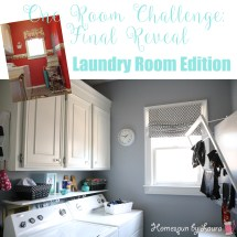 One Room Challenge: The Laundry Room Reveal | Homespun by Laura