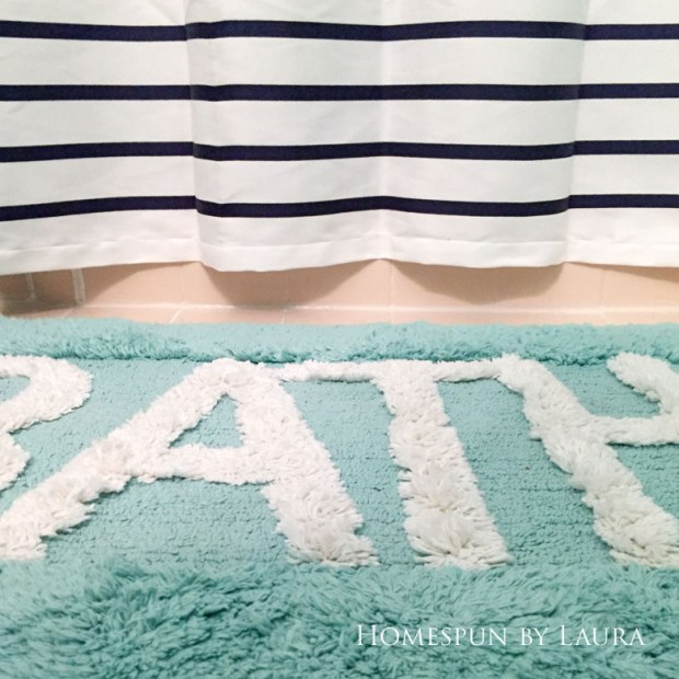 DIY NON-SKID RUG BACKING FROM OLD YOGA MAT | Homespun by Laura